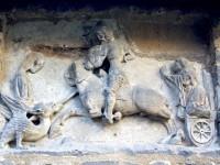 Retabel des Georgsaltares aus dem Dom zu Merseburg, 1367, vor der Konservierung
