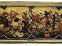 Gherardo di Jacopo, gen. Starnina, Kampf orientalischer Reiter (Schaufront einer Hochzeitstruhe), zw. 1400-1405; Lindenau-Museum Altenburg Foto: Bernd Sinterhauf