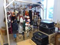 Blick ins Depot mit der Marionettensammlung aus Bad Liebenwerda im Museum Schloss Doberlug, Foto: Carolin Vogel