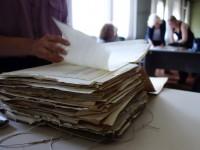 Recherche im Staatsarchiv Triest/Italien; Foto: Maria Tischner