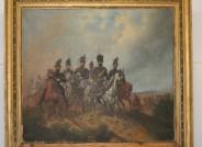 Hermann Tunica: Wilhelm Herzog von Braunschweig-Oels mit Gefolge, Zustand vor Restaurierung