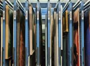 Ziehgitteranlage im Depot © KUNST AUF LAGER Foto: Silke Lachmund, mit freundlicher Genehmigung der Berlinischen Galerie, Landesmuseum für Moderne Kunst, Fotografie und Architektur