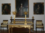 Kandelaberpaar aus dem Residenzschloss Braunschweig, Zustand nach der Restaurierung in der Dauerausstellung des Schlossmuseums Braunschweig