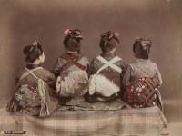 Kusakabe Kimbei (1841-1932) D 96 Tänzer, 1890-1890, Albumin, handkoloriert.