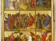 Goldene Tafel: Außenseite des rechten Innenflügels, Szenen aus dem Leben und der Passion Christi (erste Wandlung) © Landesmuseum Hannover