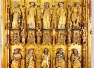 Goldene Tafel: Innenseiten des linken Innenflügels, Apostel und Heilige (geöffneter Zustand) © Landesmuseum Hannover