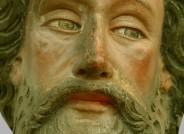 """Goldene Tafel: """"Heiliger Andreas"""", Zwischenzustand während der Restaurarierung © Landesmuseum Hannover"""