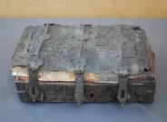 Holzkistchen mit Leder bezogen