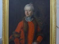 Portrait Herzogin Ernestine von Sachsen-Hildburghausen nach der Restaurierung, Foto: Lindenau Museum Altenburg