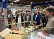 Besucherführung durch das Metallmagazin des neuen Zentraldepots am Eröffnungstag © Schleswig-Holsteinische Landesmuseen / Claudia Dannenberg