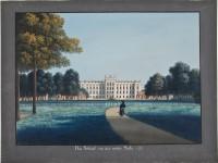 Wilhelm Barth, Ludwigslust, Gouache, o.D., 56 x 74,5 cm, Foto D. Klose © Staatliches Museum Schwerin