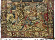 Paulus predigt vor den Frauen, nach Pieter Coecke van Aelst, Brüssel, um 1535 (Entwurf), 1540 (Ausführung), Wolle, Seide, Silber, Gold, Inv.-Nr. 71/9, Aus den Königlichen Sammlungen des Hauses Wittelsbach