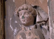 Detail: männlicher Heiliger, Kopf