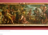 Paolo Veronese, Die Kreuztragung, um 1571, Gesamtansicht vor Reinigung und Konservierung, Fotos: Staatliche Kunstsammlungen Dresden, Gemäldegalerie Alte Meister