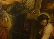 Paolo Veronese, Die Kreuztragung, um 1571, Detail vor Reinigung und Konservierung