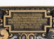 Postament mit Darstellung der Stifterfamilie, Pastell auf Holz © Dipl. Rest. Arne Mai