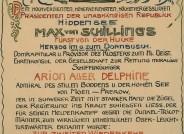 Urkunde Regierungsabtritt Max von Schillings mit den Unterschriften von u.a. Gerhart Hauptmann und Thomas Mann, Hiddensee 1924 © Gerhart-Hauptmann-Stiftung, Hiddensee