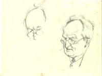 Emil Orlik, Kohlezeichnung von Gerhart Hauptmann © Gerhart-Hauptmann-Stiftung, Hiddensee
