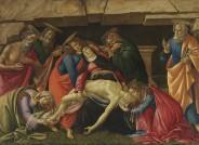 """Gesamtansicht: Sandro Botticelli, """"Beweinung Christi"""", Foto: Bayerische Staatsgemäldesammlungen"""