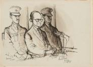 Ronald Searle, Der Eichmann-Prozess, 1961, Foto: Stiftung Niedersachsen