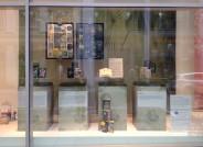 Digitalisierung von Buchumschlägen an der Universität Leipzig - Ausstellungsfenster, Foto: Evelyn Stockmann