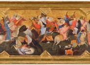Nach der Restaurierung: Gherardo Starnina (Gherardo di Jacopo, erwähnt 1387–1409), Kampf orientalischer Reiter, um 1400–1405, 54,7 x 113 cm, Tempera auf Pappelholz © Foto: PUNCTUM / Bertram Kober