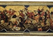 Vor der Restaurierung: Gherardo di Jacopo, gen. Starnina, Kampf orientalischer Reiter (Schaufront einer Hochzeitstruhe), zw. 1400-1405; Lindenau-Museum Altenburg Foto: Bernd Sinterhauf