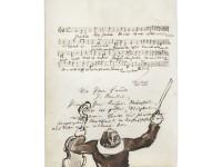 Julius Benedict und Felix Mendelssohn Bartholdy: Albumblatt für Joseph Joachim, o. O., o. D. [1844], 1 Blatt, 2 Seiten