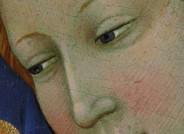 Die geröteten Wangen der Heiligen Maria Magdalena gehen mit dem durchscheinenden Grün der Untermalung ein reizvolles Wechselspiel ein.