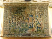 Brüsseler Manufaktur, Webteppich aus dem Besitz Julius Echters, spätes 16. Jahrhundert, Katrineholm (Schweden), Foto: Schloss Ericsberg