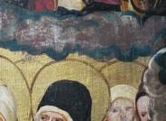 Detail: Abblättern der Vergoldung und der Versilberung