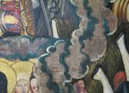 Detail: Wolkenband – Schäden an der Versilberung