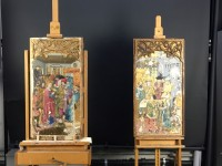 Katalanische Gemälde vor der Restaurierung