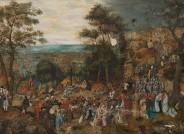Pieter Brueghel d.J.: Kreuztragung Christi, nach der Firnisabnahme