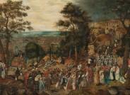 Pieter Brueghel d.J.: Kreuztragung Christi, vor der Firnisabnahme