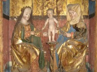 Vor der Restaurierung: Der Altarschrein aus Grünlichtenberg, gefertigt um 1510 von einem Freiberger Meister, Stadt- und Bergbaumuseum Freiberg