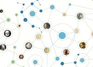 Illustration zu den Personennetzwerken des Theaters aus den Nachlässen, die im Rahmen der Projektförderung digital erschlossen werden. Theaterwissenschaftliche Sammlung, Universität zu Köln