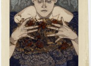Peter Behrens, Welke Erinnerungen, 1897, Farbholzschnitt, Slg. Kunstmuseen Krefeld