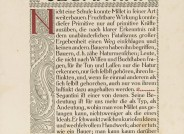 """Peter Behrens, Peter Behrens, Seite des Schriftmusterbuches """"Behrens-Antiqua"""", Gebr. Klingspor, Offenbach, 1908; Slg. Kunstmuseen Krefeld"""