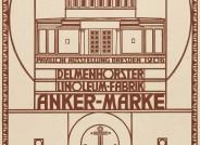 """Peter Behrens, Werbeanzeige der Delmenhorster Linoleum-Fabrik """"Anker-Marke"""", aus: Zeitschrift """"Dekorative Kunst"""" (Umschlagrückseite), 1905/06; © Kunstmuseen Krefeld"""