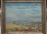 Max Slevogt, Blick auf Kallstadt im Herbst, 1928, Öl auf Leinwand, 61,5 x 74,5 cm, Vorzustand; © Saarlandmuseum