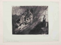 Max Slevogt, Phantasie über Delacroix' Dantebarke, 1921, Radierung auf Büttenpapier, 33 x 44,3 cm (Blatt) 23,5 x 29,5 cm (Platte), Vorzustand; © Saarlandmuseum