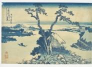 Katsushika Hokusai, Der Suwa-See in der Provinz Shinshū, 1830, Inv. V/2082, Foto: Axel Kilian, Ethnologische Sammlung Museum Natur und Mensch, Städtische Museen Freiburg.