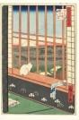 Utagawa Hiroshige, Reisfelder in Asakusa und das Torinomachi-Fest, 1857, Inv. V/2098, Foto: Axel Kilian, Ethnologische Sammlung Museum Natur und Mensch, Städtische Museen Freiburg.