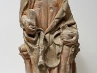 Fragmente des gotischen Paderborner Lettners nach der Restaurierung: Apostel von der Brüstung; © Diözesanmuseum Paderborn / Foto: Ansgar Hoffmann