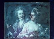 Johann Heinrich Tischbein d. Ä., Friederike Elisabeth und Wilhelmine Oeser, 1776, Öl auf Leinwand, FDH, Inv.-Nr. IV-00494; UV-Aufnahme