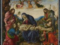 """Raffaelino del Garbo """"Beweinung Christi"""", um 1500 vor der Restaurierung, Foto: Alte Pinakothek"""