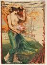 """Ludwig von Hofmann """"Flora"""", 1906, Lithographie (vollflächig verklebt in altem, nicht säurefreiem Passepartout)"""