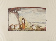 """Ludwig von Hofmann Blatt aus der Mappe """"Tänze"""", 1905 Lithographie"""