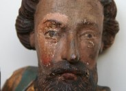 Kopf eines Apostels mit Teilfreilegung, Foto: Roksana Jachim, Hannover